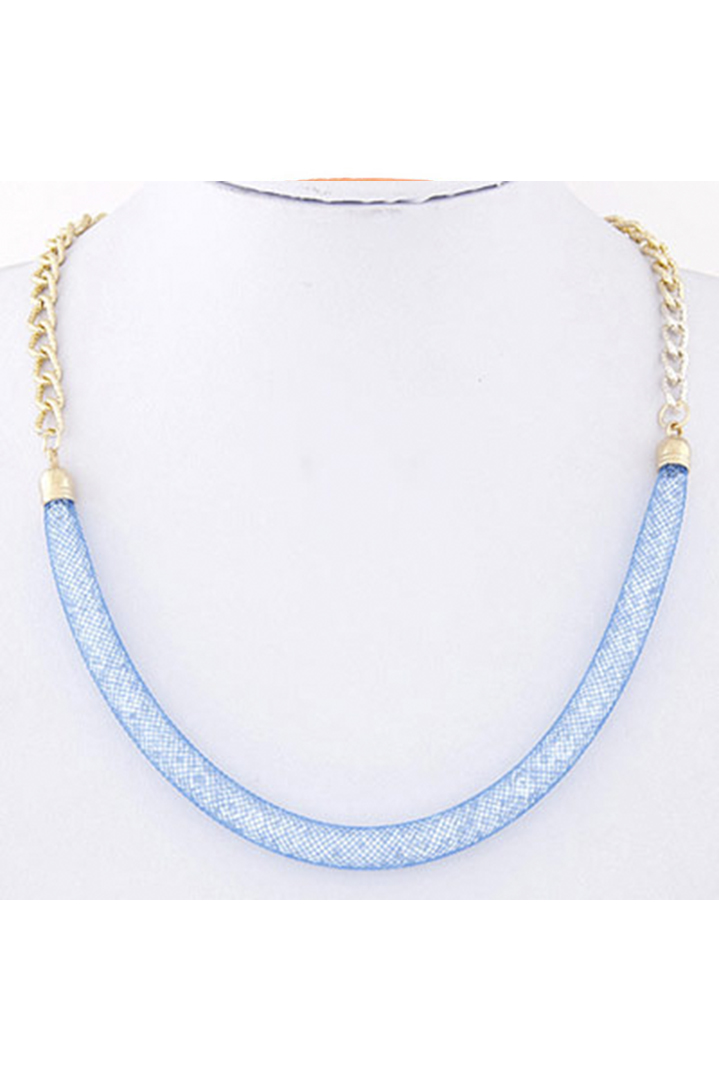 Navy blue chain κολιέ