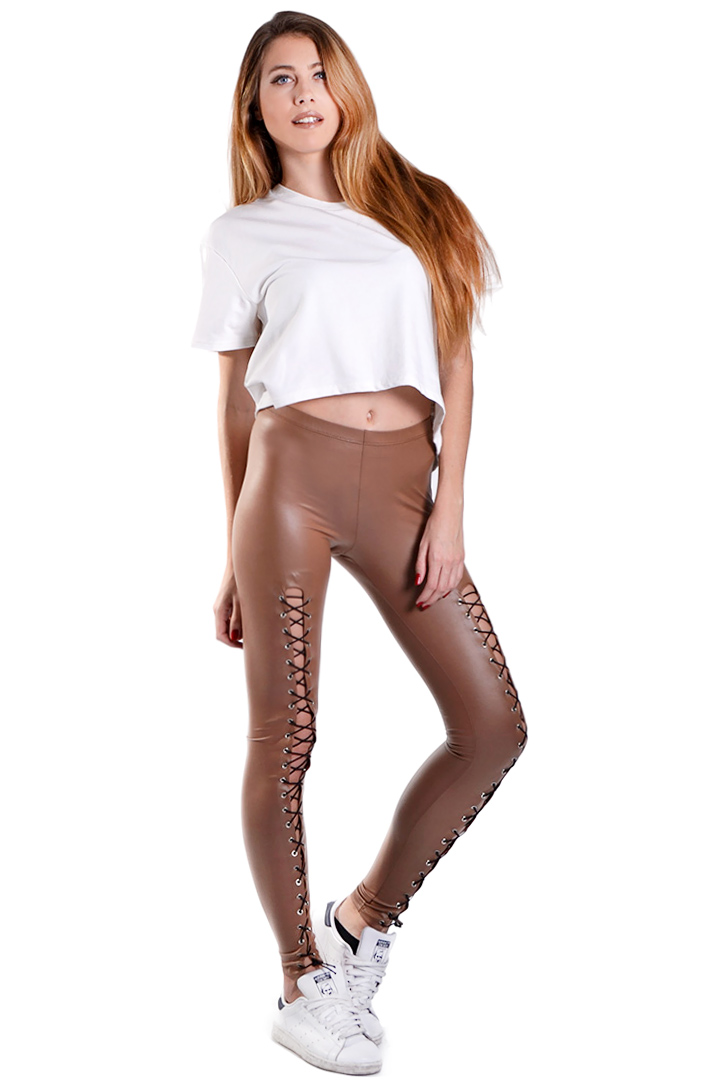 Limited edition nude lace up κολάν greek store   ρουχα   παντελονια   κολάν  greek store   ρουχα   παντελονια   παν