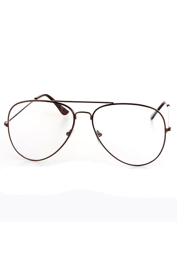 Aviator clear lens champagne γυαλιά ηλίου