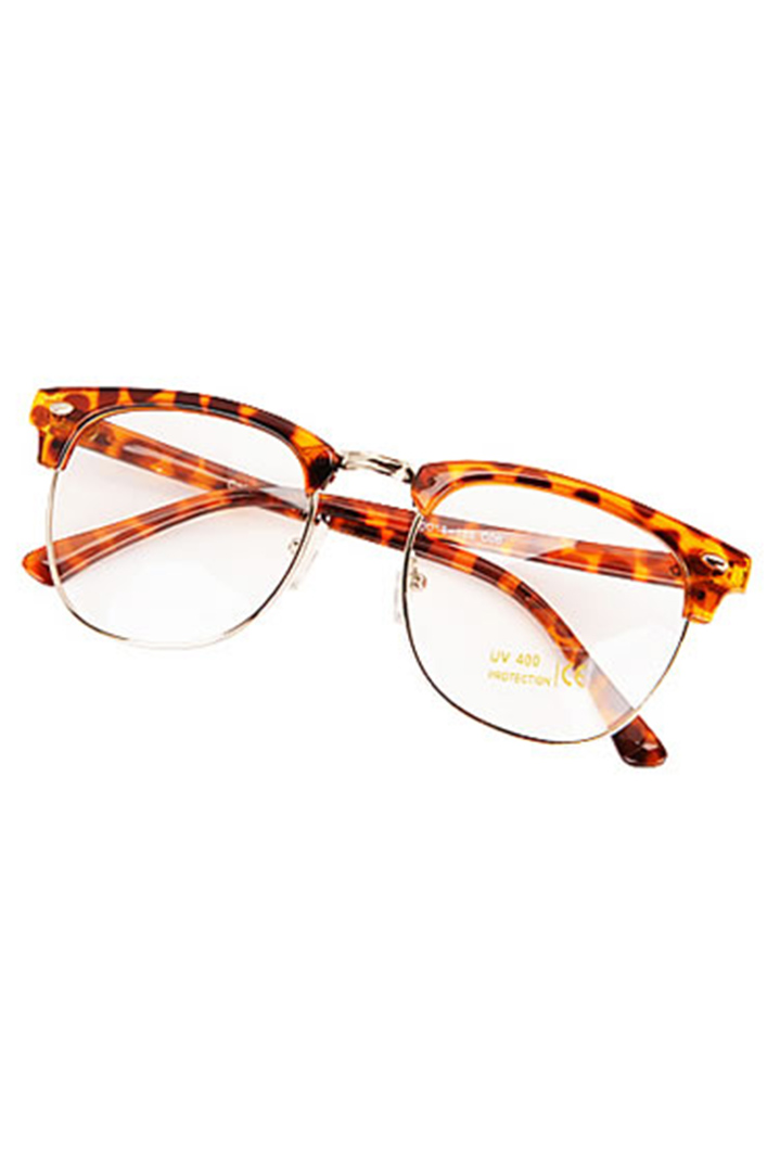 Leopard clear lens γυαλιά ηλίου
