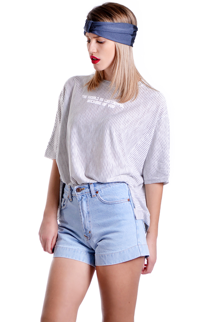 Μαύρο ριγέ boxy t-shirt greek store   ρουχα   tops   t shirts