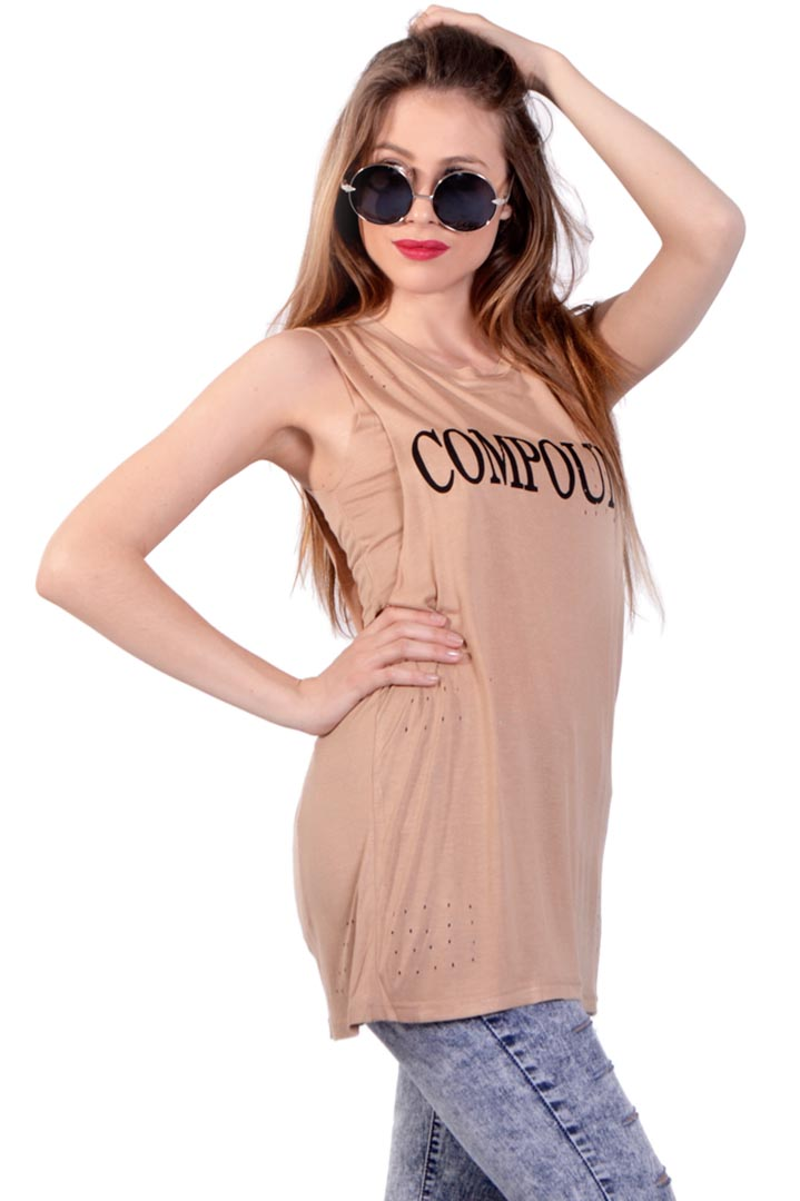Compound nude 2 layer τοπ greek store   ρουχα   tops   μπλούζες  greek store   ρουχα   t shirts   αμάνικα