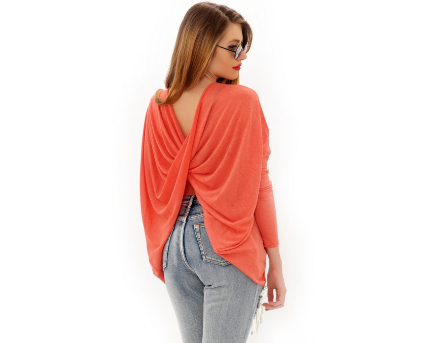 coral open back top