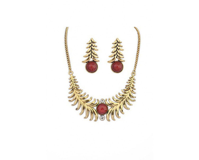Exotic red gold set