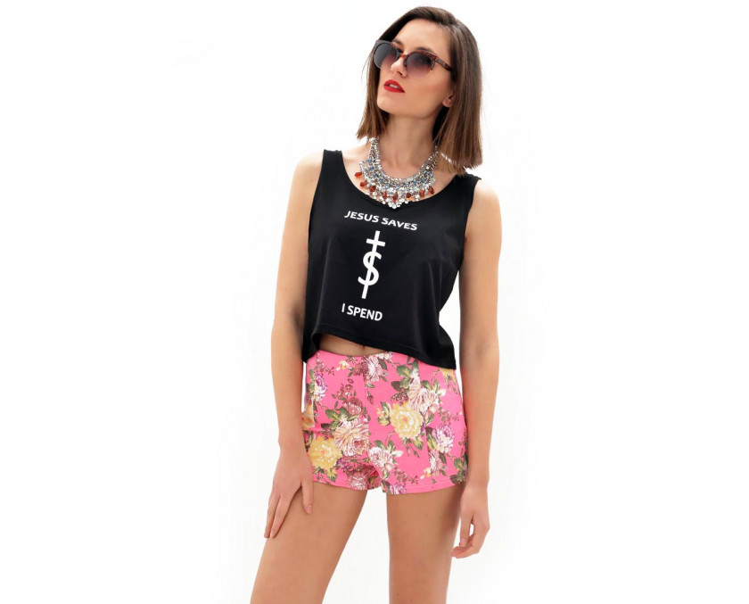 Sweet pink culotte shorts