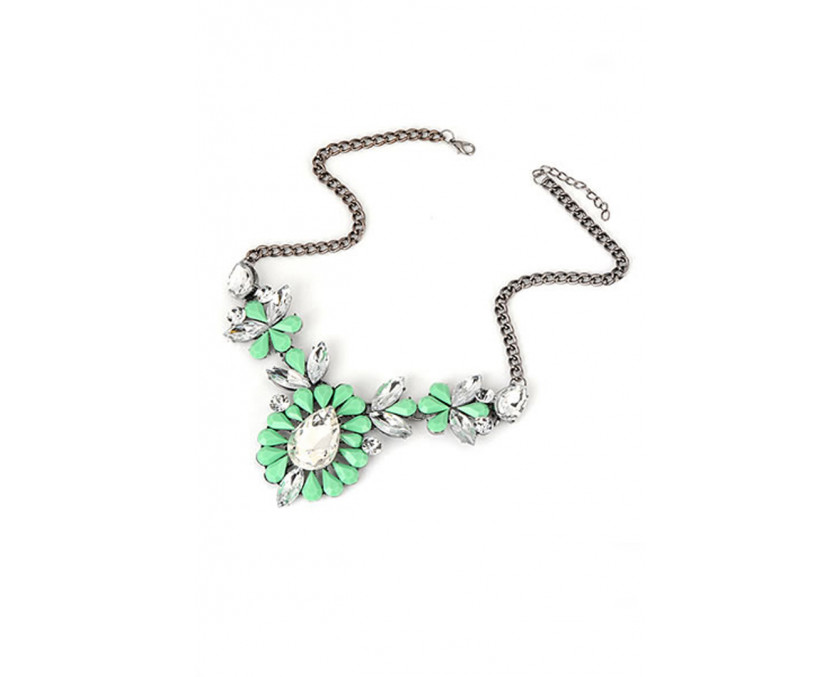 Green bling necklace