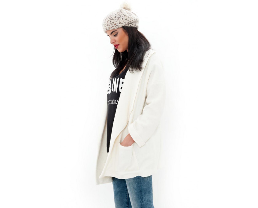 Limited edition white wool coat