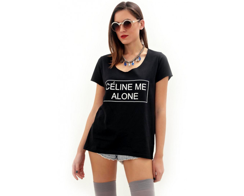 e-outfit - Celine Me Alone t-shirt in black