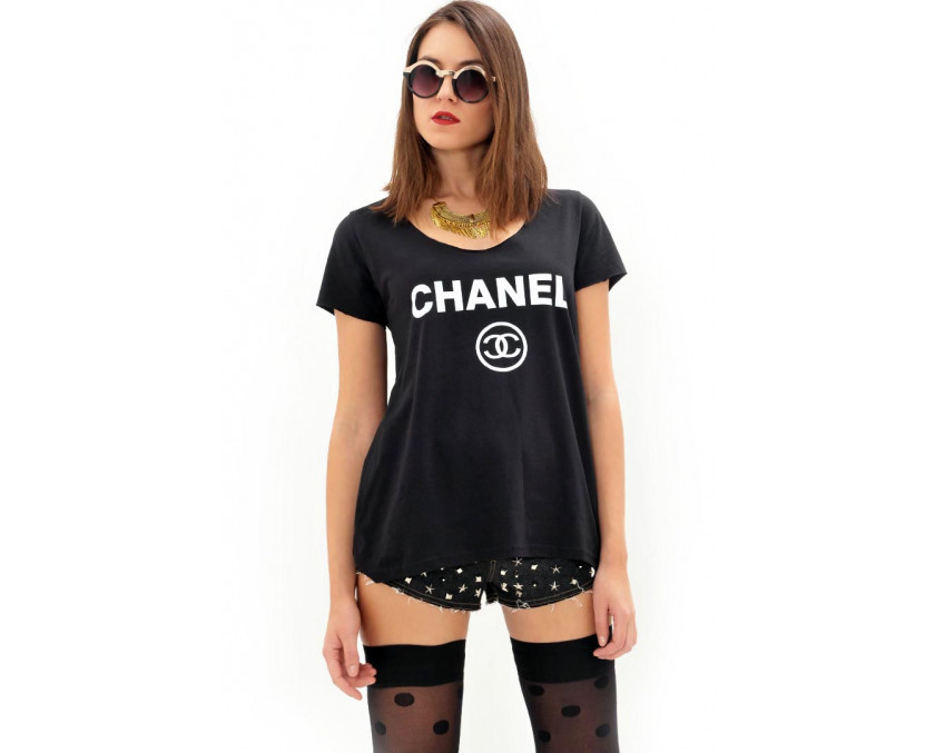 Chanel black t-shirt