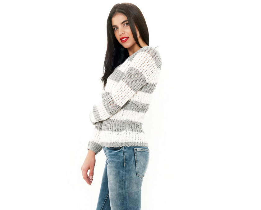 Navy knit jumper in grey