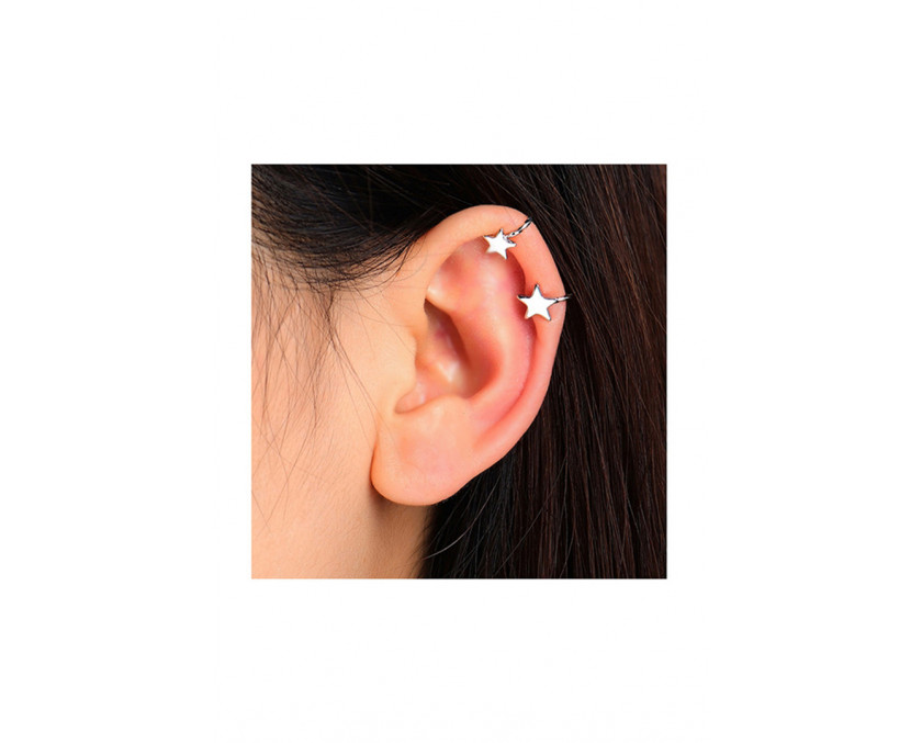 Silver Little Star Ear Clip