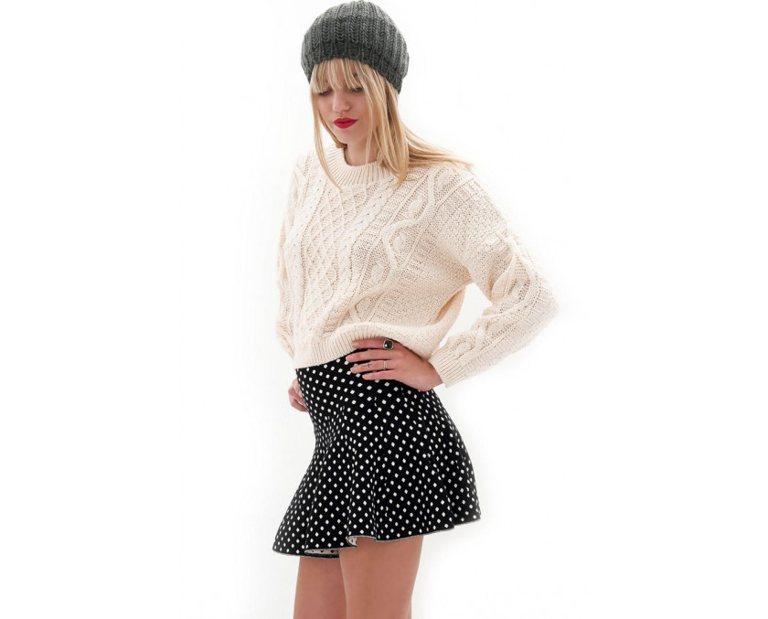 Skater skirt in polka dots