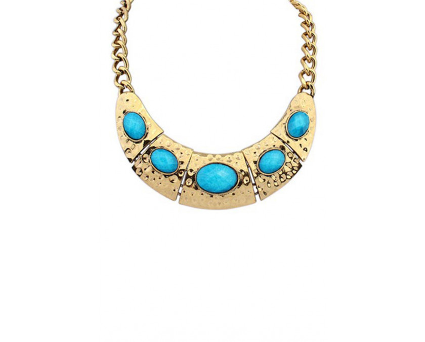 Statement Egyptian golden necklace