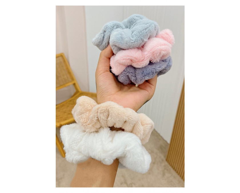 White Fluffy Large Scrunchie