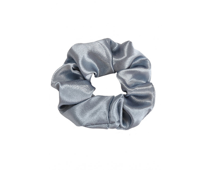 Silver Silky Large Scrunchie