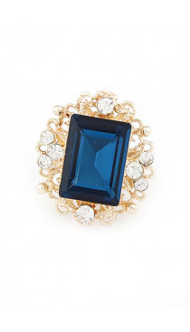 Blue Glam ring