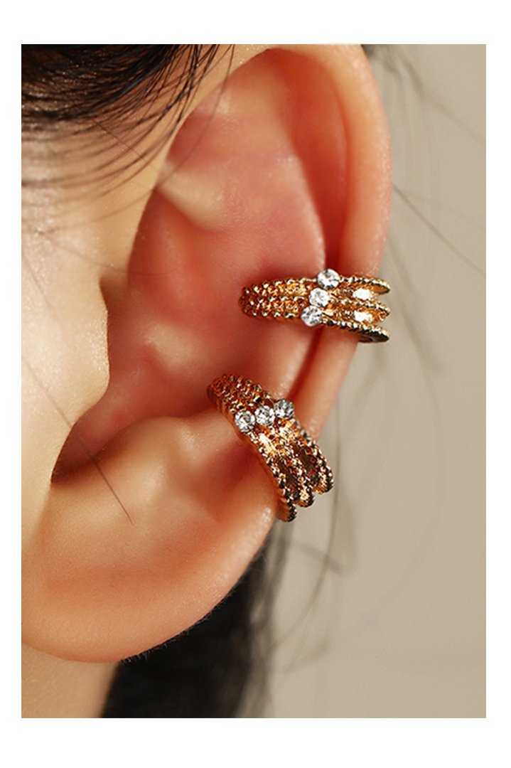 Golden Diamond 2 Ear Clip