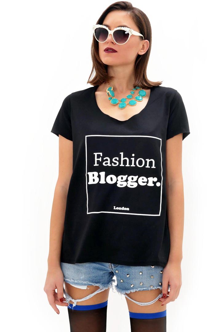 Fashion Blogger μπλουζάκι greek store   t shirts  greek store   ολα 5 7  greek store   ρουχα   tops   t sh