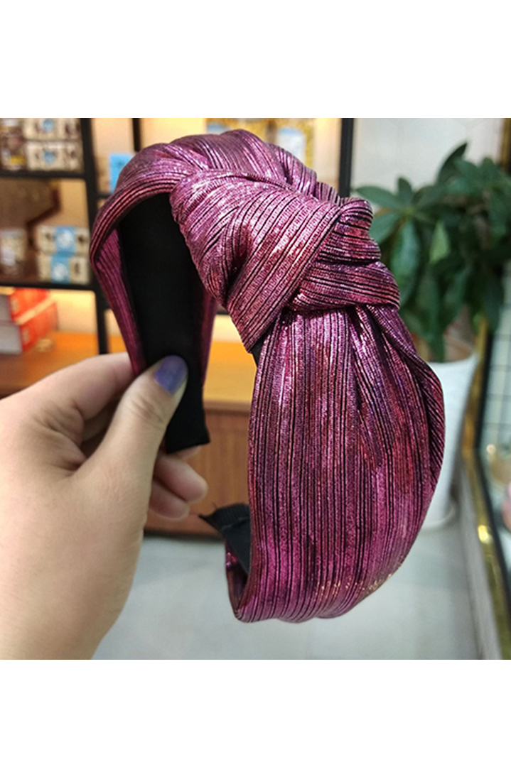 Wine red silky στέκα μαλλιών